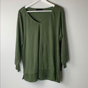 Sanctuary green linen mix shirt size 1x